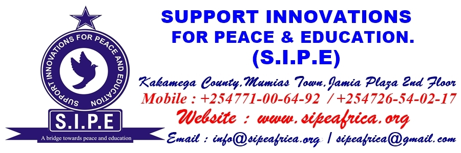 SUPPORT INNOVATIONS FOR PEACE AND EDUCATION